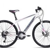 """Bicicleta dama CTM Elite 2.0, 2016, cadru 19"""", alb / gri PB Cod Produs: 037.66"""