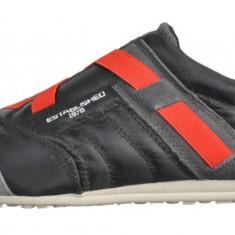 Diesel Sneakers CB 294 culoare negru/rosu din piele m.40 si 41 - Tenisi barbati Diesel, Culoare: Din imagine