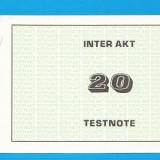 INTER TESTNOTE 20 SPECIMEN PROBA 2 - bancnota europa