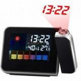 Ceas LED cu proiector calendar si termometru