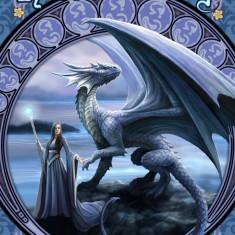 Felicitare zână și dragon Orizonturi noi - Carte postala tematica