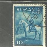 Romania 1932 - CAROL II CALARE - timbru stampilat A107