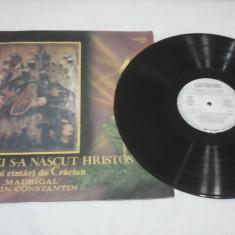 DISC VINIL ASTAZI S-A NASCUT HRISTOS COLINDE SI CINTARI CRACIUN CORUL MADRIGAL - Muzica Religioasa