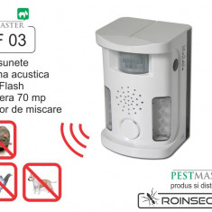 Bird Ultrasound Repeller Pestmaster UAF03 (anti pasari, anti rozatoare, anti animale) 70mp