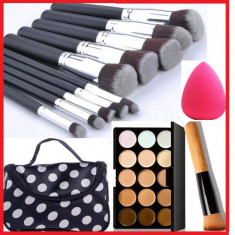 Pensula make-up - Pensule machiaj KABUKI +Trusa make-up concealer/corector+ CADOU