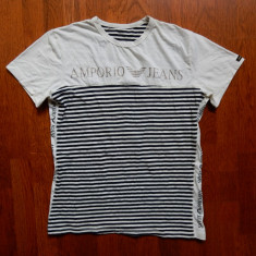 Tricou barbati - Tricou Armani Jeans; marime XL, vezi dim.; 5% elastan; stare excelenta