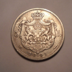 Monede Romania - 5 lei 1901