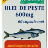 Ulei de peste 600mg - 60 capsule moi - Hofigal - Supliment nutritiv