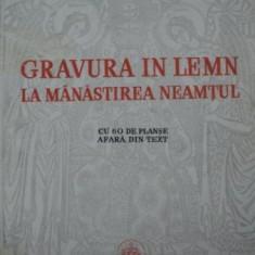 GRAVURA IN LEMN LA MANASTIREA NEAMTU - GHEORGHE RACOVEANU 1940 - Carte veche
