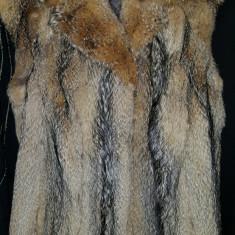 Vesta blana naturala de vulpe - Vesta dama, Marime: 36, Culoare: Bej