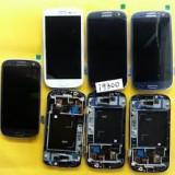 Lcd Samsung Galaxy S3 i9300 display cu touchscreen negru alb - Display LCD