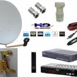 Sistem complet satelit - TV SATELIT CAMPING -CABANA -RULOTA-kit complet-receptor alimentare 12 v