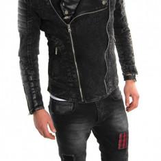 Geaca de blugi tip ZARA - geaca slim fit - geaca fashion LICHIDARE DE STOC 6030 - Geaca barbati, Marime: M, L, XL, Culoare: Din imagine