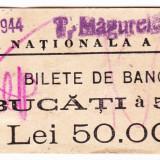 Banderola 100 bucati bancnote 500 lei 1940-1944 BNR sucursala Turnu Magurele (2), An: 1944