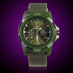 Ceas barbatesc - Ceas militar / sport Gemius Army Racing Waffen; quartz Japonez, curea silicon