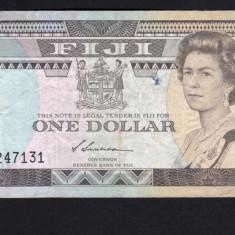 Fiji 1 Dollar serie 12247131 1987