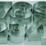 Blister numere 10 piese, numere de la 0-9, din inox; dimensiuni 7.5x2.5 cm
