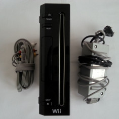 Nintendo Wii + cablu tv + alimentator adaptor power supply consola joc