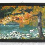 Tablou, Natura, Ulei, Realism - PICTURA IN CUTIT SEMNATA I. APOPEI