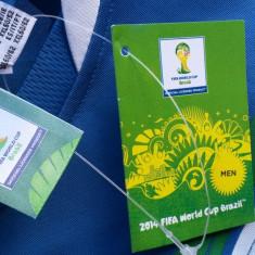 Tricou barbati Adidas FIFA world cup 2014 italia nr.XL-XXL NOU, Maneca scurta, Poliester