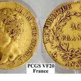 Moneda Aur 20 franci Napoleon Premier Consul AN XI A (1802-1803) 58.000 Buc.Rara