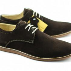 Pantofi barbati - Pantofi Maro casual - eleganti din piele naturala intoarsa - Made in Romania