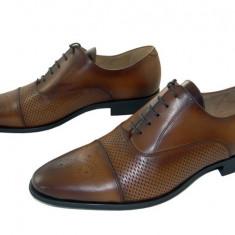 Pantofi barbati eleganti piele naturala Denis-1289 cuoio-2, Marime: 39, 40, 41, 42, 43, 44, 45, Culoare: Maro