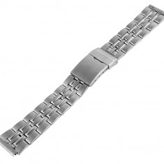 Bratara ceas din otel inoxidabil argintie - curea metalica - 18mm - Curea ceas din metal