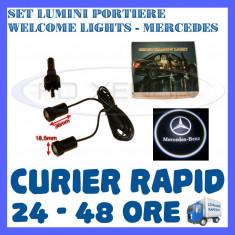 SET 2 x LUMINI LOGO LASER MERCEDES GENERATIA 6 (12V, CAMION 24V) - LED CREE 7W - Logo Marca ZDM