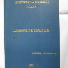 LUCRARE DIPLOMA 1972 FAC.LIMBA SI LIT.ROMANA ST.IOSIF SI BRASOVUL, IND.DODU BALAN