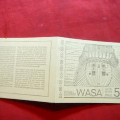 Carnet prezentare Timbre- Vasul scufundt Wasa 1969 Suedia, 10 val
