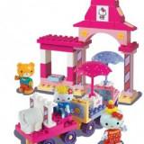 Animal de plus - Set constructie Unico Plus Hello Kitty Parc de distractii cu masinuta 51 piese