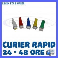 BEC AUTO LED LEDURI T5 BORD, INTERIOR - ALB, ALBASTRU, ROSU, GALBEN, VERDE ZDM, Universal