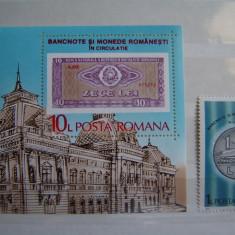 Timbre Romania, Nestampilat - Romania 1987 LP 1180 si 1181 -serie si colita MNH