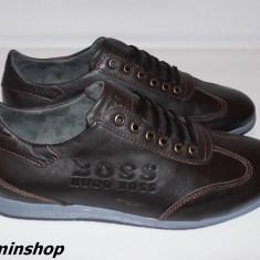 Pantofi HUGO BOSS 100% Piele Naturala - Maro / Negru - Noua Colectie 2016 !!! - Pantofi barbati Hugo Boss, Marime: 40, 41, 44