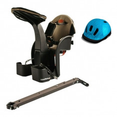 WeeRide Scaun de bicicleta Deluxe si Casca protectie Flames Albastru WeeRide WR03A