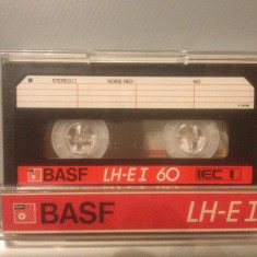 Casete Audio BASF LH-EI 60 min - IEC I - made in W.GERMANY - Casetofon