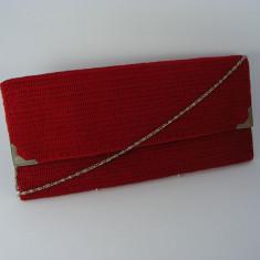 Geanta plic rosie de dama crosetata manual Buticcochet - Geanta Dama