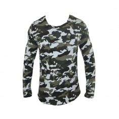 Bluza barbati - Bluza gen Zara, Camuflaj, 2 Nuante, din Bumbac, Slim, Toate Masurile G300