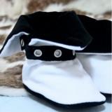 Cizmulite botez Micul Muschetar (Culoare: negru, Lungime talpa: la comanda)