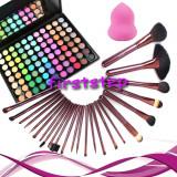 Cosmetice - Trusa machiaj farduri 88 culori + 24 pensule megaga par natural + cadou