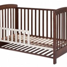 Patut lemn pentru bebelusi - Gard de protectie pentru patut Dreamy Plus Walnut Treppy