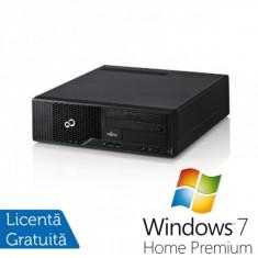 Sisteme desktop fara monitor - Fujitsu Esprimo E500 SFF, Intel Core i3-2120 3.3Ghz, 4GB DDR3, HDD 160GB, DVD-RW + Windows 7 Home Premium