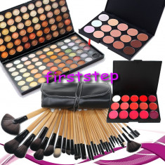 Trusa make up - Trusa machiaj MAC farduri 120 culori + 24 pensule make up + fond de ten + ruj