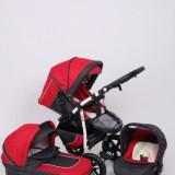 Carucior copii 3 in 1 - Carucior 3 in 1 Q9 Baby Merc Color 4 (Gri inchis cu Rosu) Baby-Merc