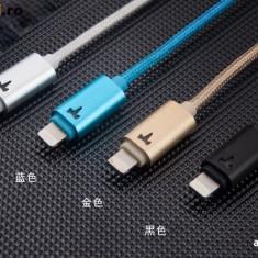 Cablu 8 Pin Lightning USB iPhone 5 5C 5S 6 6 Plus iPad YB-408 by Yoobao Black - Cablu de date Yoobao, iPhone 5/5S