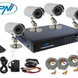 Camera CCTV - Kit supraveghere 4 camere cu DVR si HDD 1TB PNI PTZ81TB