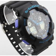 Casio G-SHOCK GA 100, Black-Blue Edition - Ceas barbatesc