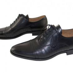 Pantofi barbati eleganti piele naturala Denis-1289 n4, Marime: 40, 41, 42, 43, 44, 45, Culoare: Negru, Nero
