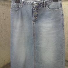 Fusta jeans ESPRIT originala mas.40, Midi, Forma A, Bumbac
